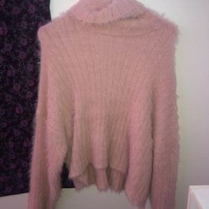 American eagle super fuzzy turtleneck sweater